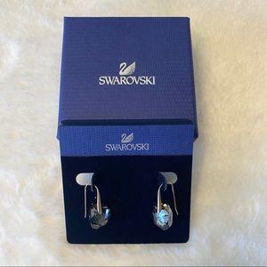 Swarovski Rose Gold-Plated Black Crystal Earrings